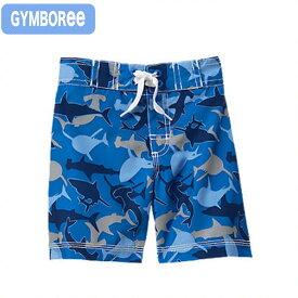 ジンボリー(Gymboree s-1)ブルーのサメ柄のトランクス水着!(6M 9M 12M 18M 6ヶ月 9ヶ月 12ヶ月 18ヶ月 1歳 1才 2歳 2才 2T 24M ベビー用 赤ちゃん用 男の子用)(80cm 90cm 95cm 100cm 110cm 241480293 Gymboree)