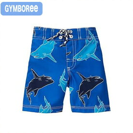 【ジンボリー 水着】 (Gymboree s-1)ブルー 青 シャーク柄 サメ柄 トランクス水着(3歳 3才 3T 4歳 4才 4T 5歳 5才 5T 6歳 6才 6T 男の子用)(90cm 95cm 100cm 110cm 140136400 Gymboree)