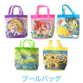429b599a3df9e  プールバッグ キャラクター  ディズニー 女の子 男の子 子供用 保育園 幼稚園 ビニールバッグ ビーチバッグ