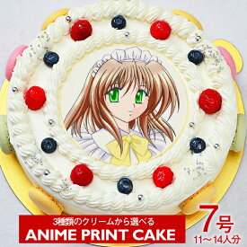 ≪写真ケーキ お祝い≫シェリーブランのキャラクター写真ケーキ7号サイズ直径21cm≪11〜14名用サイズ≫生クリーム・イチゴクリーム・チョコクリームの3種類から選べる写真ケーキ 5P04Jul15