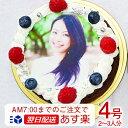 あす楽 蒸しショコラ 4号サイズ 写真ケーキ バースデーケーキ 直径12cm≪2〜3名用サイズ≫ベルギー産チョコの写真ケ…