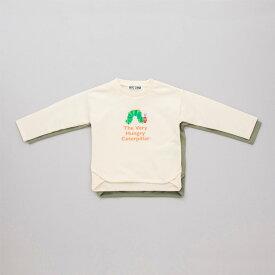 【本体綿100%】2020年 秋冬 はらぺこあおむし ミニ裏毛 ラウンドヘム 長袖Tシャツ THE WORLD OF ERIC CARLE
