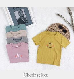 夏服 Tシャツ 韓国子供服 80 90 100 110 120 インポート子供服 ナチュラル 可愛い 男の子 女の子 半袖シャツ 1歳 2歳 3歳 4歳 5歳 色違い キッズ服