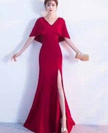 de3ff08b7b26b  メール便送料無料  即納 ロングドレス シンプル ケープデザイン 上品マキシ