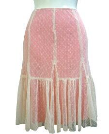B品 Lushレーススカート ベージュ・ピンク