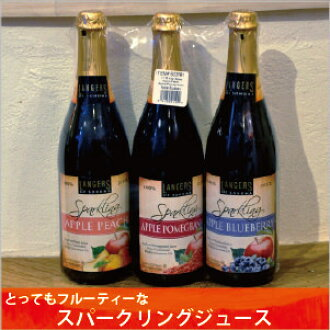 LANGERS of SONOMA sparkling ring juice 750ml×3 book Apple peach, Apple Blueberry, Apple pomegranate Apple Cider sparkling, ranges of Sonoma