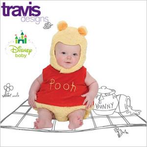 Disney ディズニー プーさん Poohさん ベビー コスチューム ベビー服 着ぐるみ コスプレ かわいい 赤ちゃん 男の子 女の子 ハイ