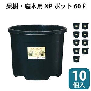 苗木 果樹 植木ポット #60 10個セット 10pc 大容量 60リットル 60L 60 NPポット ブルーベリー 農業 ブラック 直径515mm 515×420mm