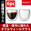 【送料無料】ボダム bodum グラス◆パヴィーナ ダブルウォールグラス 250ml(6個セット) ギフト に最適