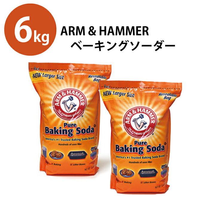 重曹 ベーキングソーダー アームアンドハンマー Arm&Hammer Pure Baking Soda 重曹 6.1kg【お得な2個セット】