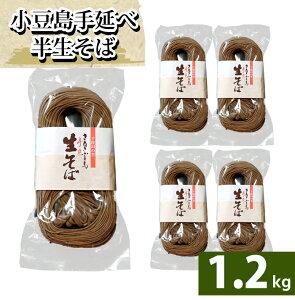 【船波製麺所】 そば 半生そば 讃岐 店長いち押し!250g ×5袋 1.2kg 半生そうめん 小豆島 ソバ 蕎麦 食品 ストック パッケージには、生と書いてありますが半生です