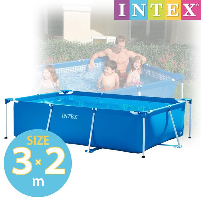 プール ビニールプール INTEX インテックス 大型 長方形 水あそび レジャープール 家庭用プール キッズ 子供用プール 【3m×2m×75cm 】