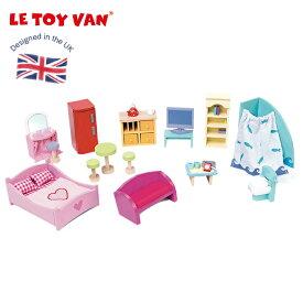 【楽天スーパーSALE 10%OFF】木製 木のおもちゃ 人形ごっこ 家具 セット 小物 おもちゃ レトイバン Le Toy Van レ・トイ・バン ファニチャーセット B カラフル 海外 北欧 知育玩具
