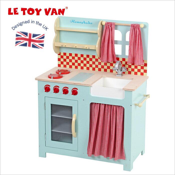 イギリス レトイバン 木製&ペイントおままごとキッチン ハニーキッチン Le Toy Van レ・トイ・バン Honey Kitchenミニキッチン おままごと ミニコンロ 木のおもちゃ ごっこ遊び