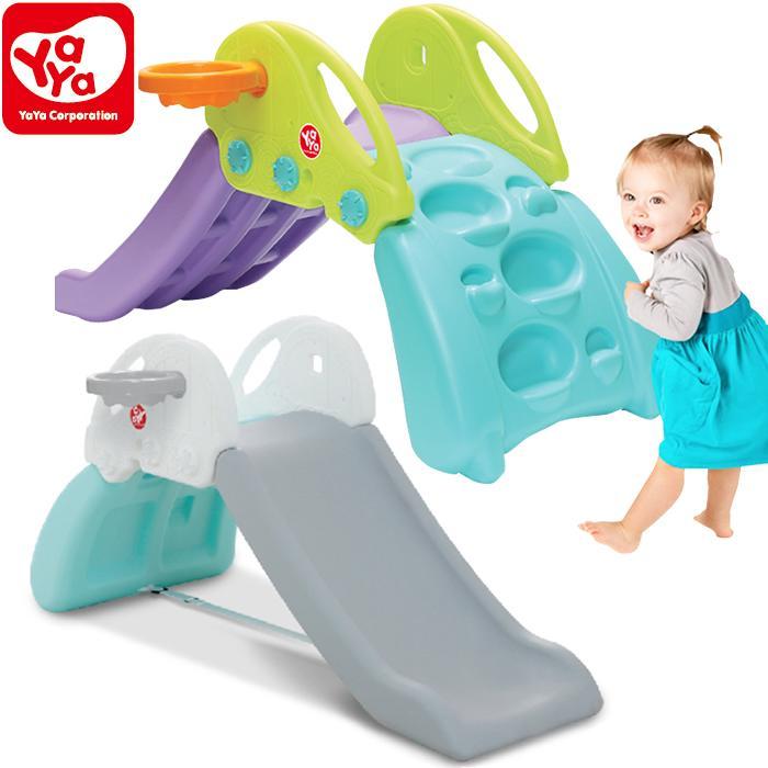 YAYA すべり台 バスケットゴール付 ヤヤ ロッククライミング 折りたたみ式 おもちゃ 子供用 滑り台 室内すべり台 屋内遊具 遊具 玩具 プレイハウス