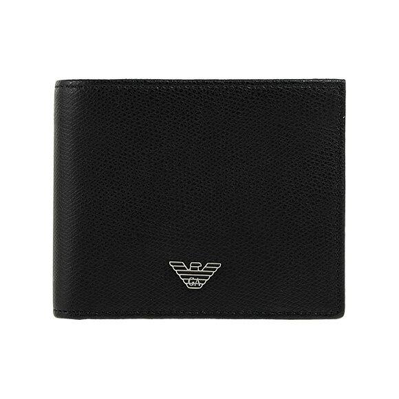 エンポリオアルマーニ EMPORIO ARMANI 財布 メンズ 二つ折り財布(小銭入れ付) ブラック WALLET BI-FOLD YEM122 YAQ2E 81072 BLACK