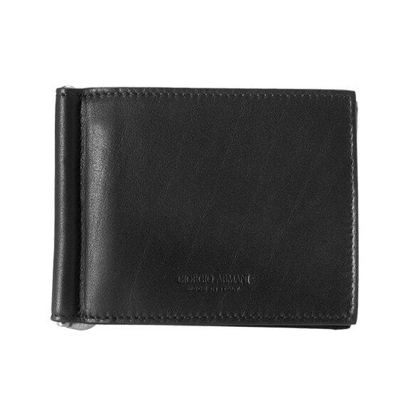ジョルジオアルマーニ GIORGIO ARMANI メンズ 二つ折り財布(マネークリップ) ブラック 黒 BI-FOLD WALLET Y2R101 YDH6J 80001 BLACK