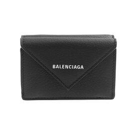 バレンシアガ BALENCIAGA 財布 レディース 三つ折り財布 ブラック PAPIER MINI WALLET 391446 DLQ0N 1000 BLACK【ミニ財布】【2021AW】