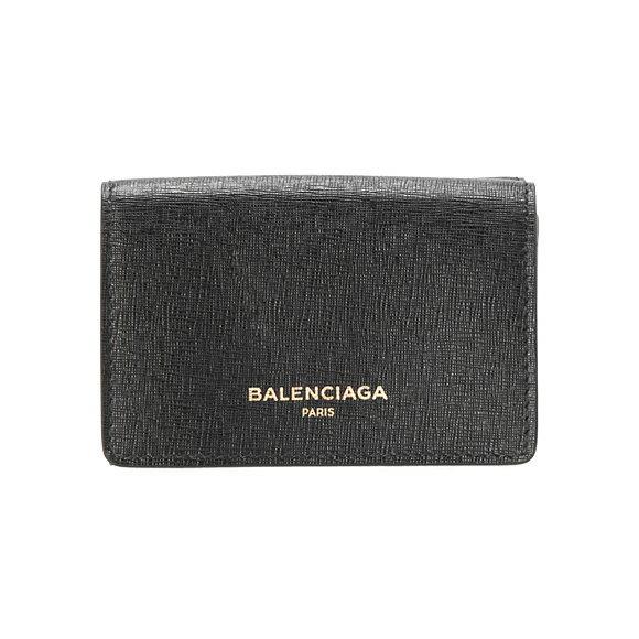 バレンシアガ BALENCIAGA 財布 レディース三つ折り財布 ミニ財布 ブラック ESSEN.MINI WALLET 490621 DLK0N 1000 NOIR