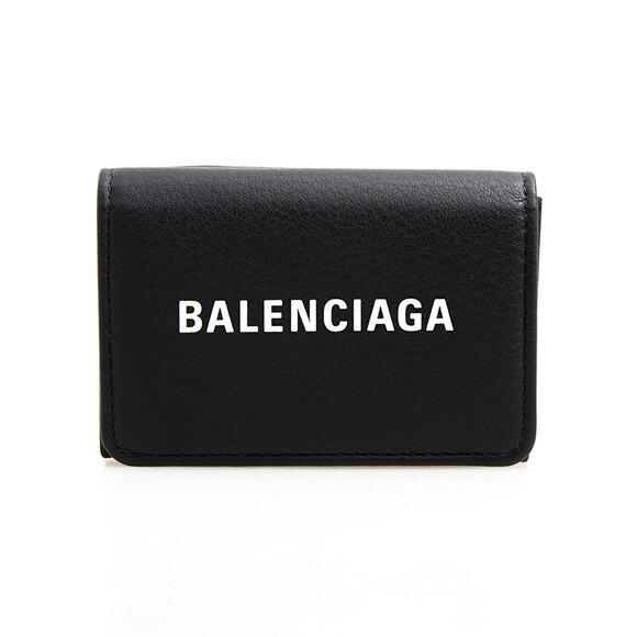 バレンシアガ BALENCIAGA 財布 レディース三つ折り財布 ミニ財布 ブラック EVERYDAY L MIN WALL 516402 DLQ4N 1000 NOIR/BLANC