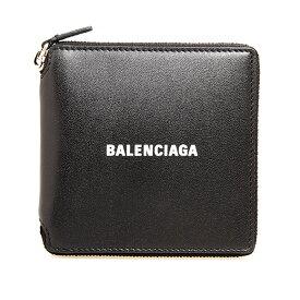 バレンシアガ BALENCIAGA 財布 メンズ ラウンドファスナー二つ折り財布 ブラック CASH SQUARE WALLET 594693 1I313 1090 BLACK/L WHITE