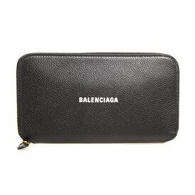 バレンシアガ BALENCIAGA 財布 レディース ラウンドファスナー長財布 ブラック CASH CONTINENTAL WALLET 594290 1IZIM 1090 BLACK/L WHITE【2021SS】