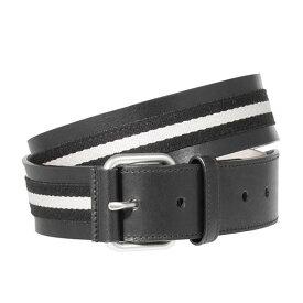 バリー BALLY メンズ ベルト ブラック 黒 CASUAL TIANIS-40 6187224 710 BLACK/BEIGE BLACK