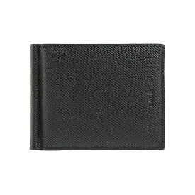 バリー BALLY 財布 メンズ 二つ折り財布(マネークリップ) ブラック BALLY BRIGADIERE BODOLO.B 6205393 216 BLACK/BALLY RED