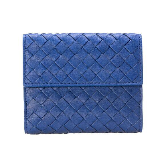 ボッテガヴェネタ BOTTEGA VENETA 財布 レディース 二つ折り財布 コバルトブルー 382576 V001N 4234 COBALT BLUE 【送料無料】