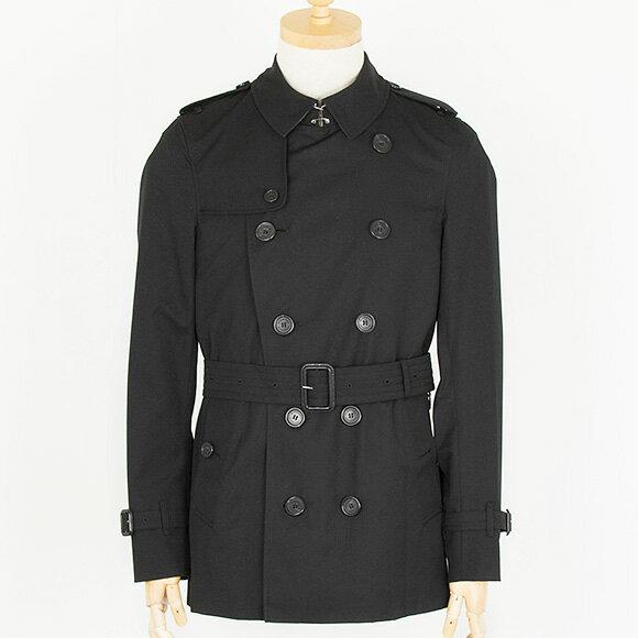 バーバリー BURBERRY コート メンズ トレンチコート ブラック SANDRINGHAM SHORT 3911048 DK 00100 BLACK 【送料無料】【英国】