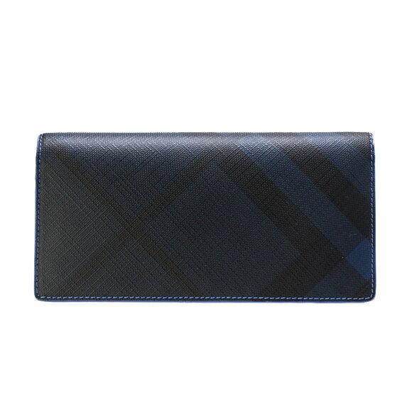 バーバリー BURBERRY 財布 メンズ 長財布(小銭入れ付) ネイビー/ブルー CAVENDISH 4064800 PCAL C41000 NAVY/BLUE 【英国】