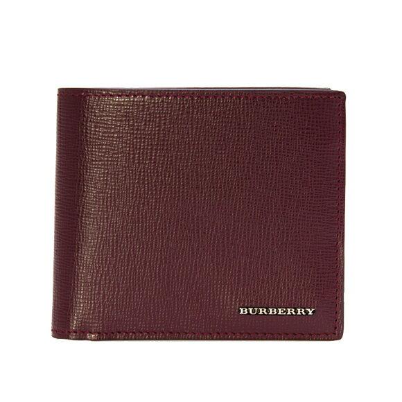 バーバリー BURBERRY 財布 メンズ 二つ折り財布(小銭入れ付) バーガンディレッド CC BILLCOIN 4065541 LLN:ABSYC 60930 BURGUNDY RED 【英国】