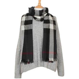 巴宝莉巴宝莉围巾羊绒混纺围巾炭灰色复选标记木色调 LTW CK 4000328 S:AARVP 0260 B 木炭