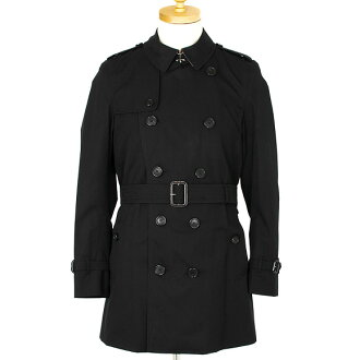 Burberry BURBERRY coat men trench coats and KENSINGTON MID black 3983338 BLACK DK 00100