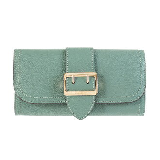 Burberry BURBERRY wallet Lady's long wallet ユーカリプタス HALTON 4025972 SFM:AAQVP 37100 EUCALYPTUS GREEN
