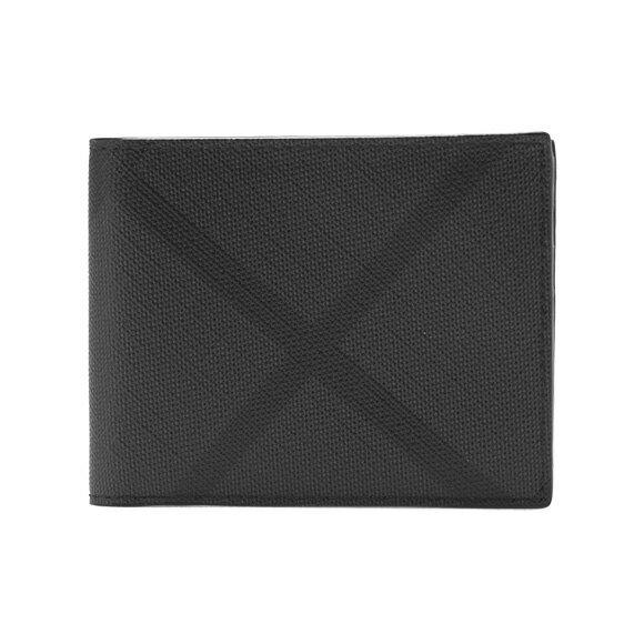 バーバリー BURBERRY 財布 メンズ 二つ折り財布 チャコール×ブラックチェック HIPFOLD 4056416 SMV:PCAL 02600 CHARCOAL/BLACK