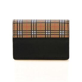 バーバリー BURBERRY メンズ 名刺入れ(カードケース) ヴィンテージチェック×ブラック SMALL CHECK FLINT 4078069 MIM:ACIEB 70450 ANTIQUE YELLOW/BLACK【英国】