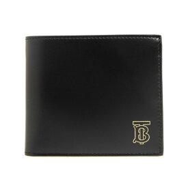 バーバリー BURBERRY 財布 メンズ 二つ折り財布 ブラック 黒 REG CC BILL8 8009185 TB0:111859 A1189 BLACK【英国】