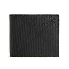 バーバリー BURBERRY 財布 メンズ 二つ折り財布 ダークチャコール/ロンドンチェック REG CC BILL8 80144811 KCO:110269 A5656 DARK CHARCOAL【英国】