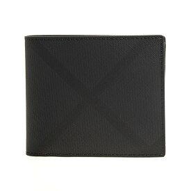 バーバリー BURBERRY 財布 メンズ 二つ折り財布 ダークチャコール/ロンドンチェック CC BILL COIN 80144841 KCO:110269 A5656 DARK CHARCOAL【英国】