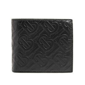 バーバリー BURBERRY 財布 メンズ 二つ折り財布 ブラック CC BILL COIN 80176551 TB8:113870 A1189 BLACK【英国】