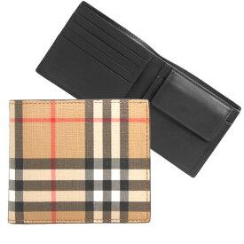 バーバリー BURBERRY 財布 メンズ 二つ折り財布 ヴィンテージチェック CC BILL COIN 80166181 DFC:115169 A7026 ARCHIVE BEIGE【英国】