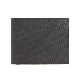 バーバリー BURBERRY 財布 メンズ 二つ折り財布 ダークチャコール(ロンドンチェック柄) LONDON CHECK HIPFOLD 80174671 KCO:110269 A5656 DARK CHARCOAL IP CHK【英国】