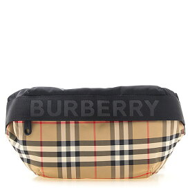 バーバリー BURBERRY バッグ ウエストバッグ ヴィンテージチェック×ブラック MD SONNY 80265571 YYN:118393 A7026 ARCHIVE BEIGE【英国】