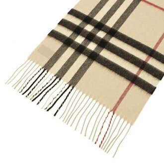 BURBERRY / Burberry cashmere scarf beige × black check MU GIANT ICON 3201304 2500B TRENCH CHECK BURBERRY baabari-BA - Bali -