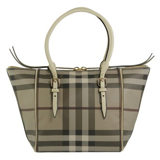 BURBERRY / Burberry ladies tote bag smoked check / trench SM SALISBURY SSD 3884121 2500T TRENCH S CHECK BURBERRY baabari.
