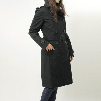 Burberry BURBERRY women's trench coat cotton to KENSINGTON black 3886100 BLACK DK 00100