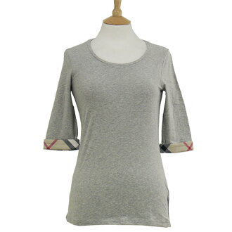 BURBERRY / Burberry ladies 7-sleeve shirt grey YSM82368 3886952 YSNR 05000 PALE GREY MELANGE