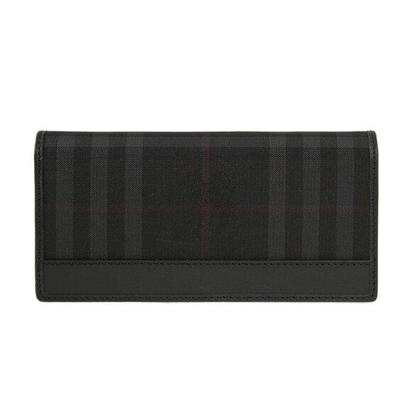 【1,000円クーポン】バーバリー BURBERRY 財布 メンズ 長財布(小銭入れ付) チャコールグレーチェック/ブラック CAVENDISH 3945489 HNC:ABHTI 0010T CHARCOAL/BLACK【英国】