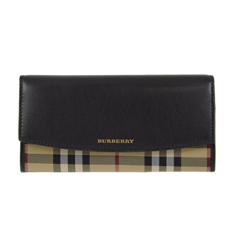 Burberry BURBERRY wallet Lady's long wallet hose ferry check / black PORTER 3982453/4024987 HNC:ABHYB 00100 BLACK